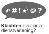 Logo Klachten over onze dienstverlening?